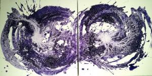Subconsciente | Técnica mixta sobre lienzo 40x80cm 395€